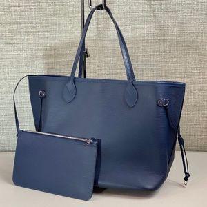 Louis Vuitton Navy Blue Epi Leather Neverfull